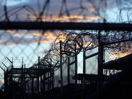 A 2013 photo shows Camp X-Ray, which was used as the first detention facility for al-Qaida and Taliban militants who were captured after the Sept. 11 attacks at Guantanamo Bay Naval Base, Cuba.