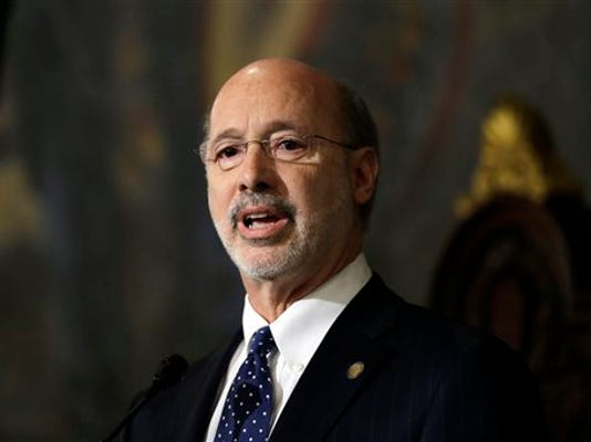 Gov. Tom Wolf delivers his budget address for the 2015-16 fiscal year to a joint session of the Pennsylvania House and Senate on Tuesday.