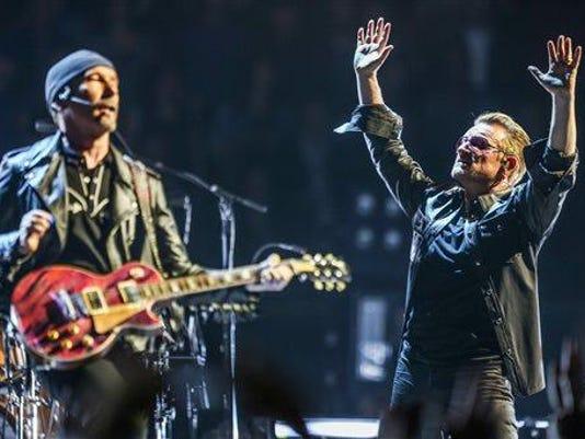 MAY 26, 2015 FILE PHOTO. The Edge, Bono, U2