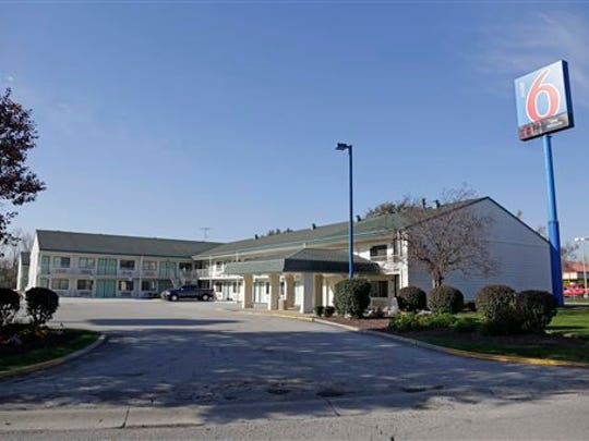 This Motel 6 in Hammond, Ind. seen Monday, Oct. 20, 2014, is where police found one of seven women's bodies over the weekend. The bodies of the seven women were found after a man confessed to killing one woman who was found strangled at the motel and lead investigators to at least three other bodies, authorities said Monday.