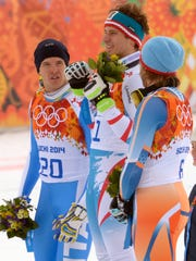 2014-2-9 downhill medalists