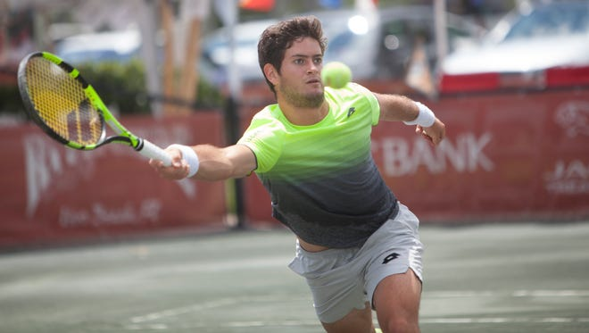 Nicolas Meija plays April 26 at the Mardy Fish Tennis Championships