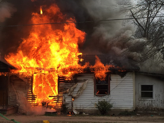 A fire on the 3000 block of Savage Drive on Friday,