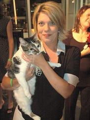 Rebecca Duke and her cat Smokey participated in the