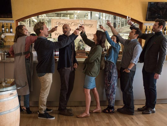 "Nettflix's ""Friends from College"" features, from left,"