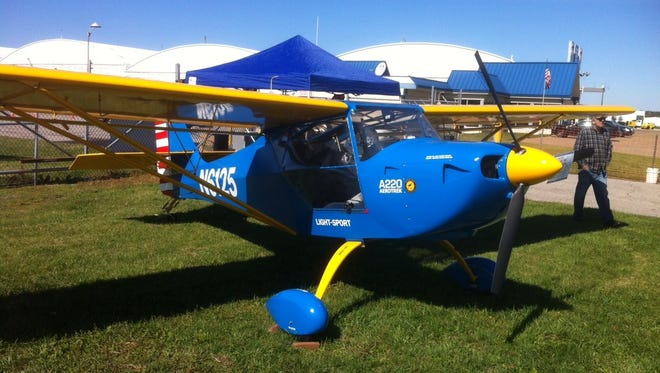 One of the planes on display during last year's Wings and Wheels event.