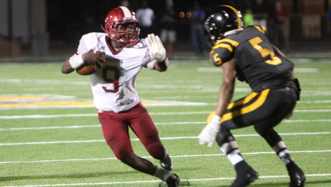 Ouachita's Devion Warren had a big game against Pineville on Thursday night. He is pictured here against Neville last season.