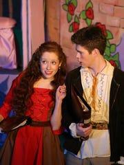 Red's Storyteller (Hannah McNew) questions Jack's Storyteller (Sam Coleman).