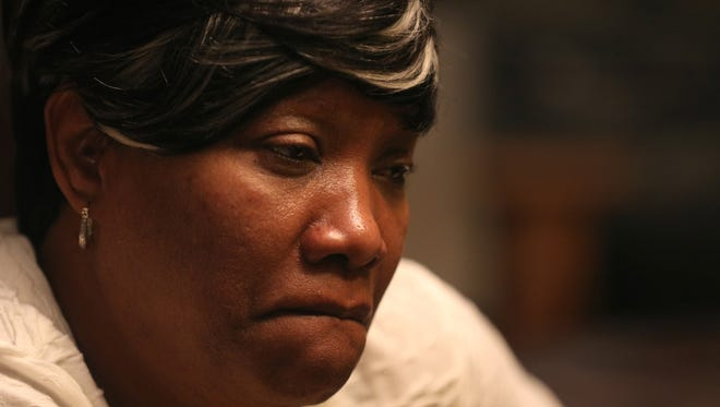 Trevyan Rowe's aunt, Velma Handy, fights back tears as she talks about his death.
