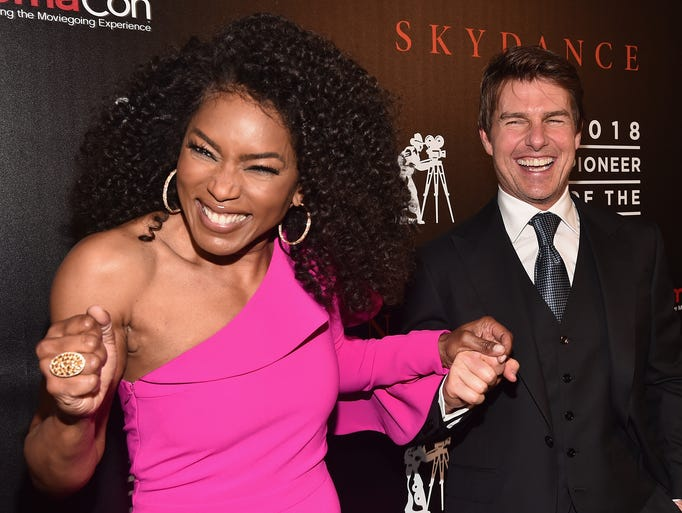Angela Bassett and Tom Cruise attend the 2018 Will