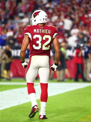 Oct 26, 2015: Arizona Cardinals safety Tyrann Mathieu (32) against the Baltimore Ravens at University of Phoenix Stadium.
