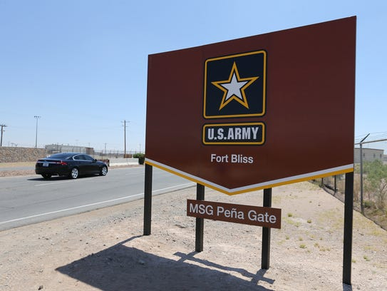 The Master Sgt. Pena Gate at Fort Bliss. The gate was