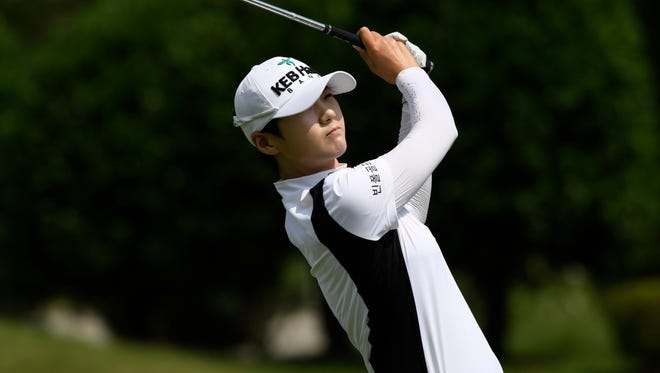 Sung Hyun Park leads by two strokes after the first round.