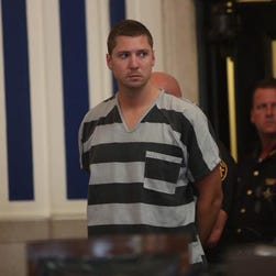 Ray Tensing, 25, a University of Cincinnati police officer, was arrested on murder charges July 29, 2015, in connection with the death of Samuel DuBose during a traffic stop.