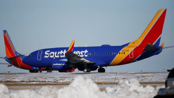 Southwest sees record profit in first quarter.