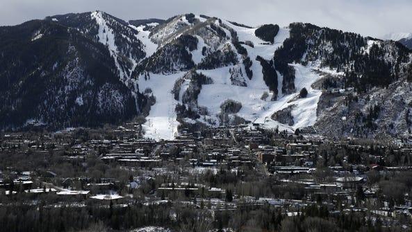 This Dec. 1, 2014 photo shows the Aspen Mountain ski