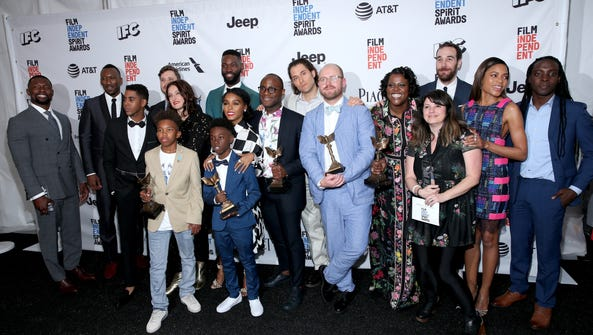 Filmmaker Barry Jenkins and cast and crew of 'Moonlight'