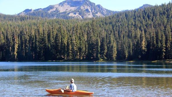 Kayaking on Timpanogas Lake.