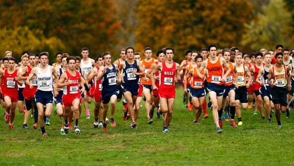 The starts of the 64th Morris County boys cross country