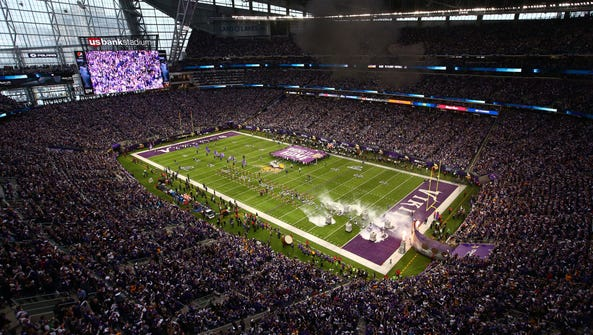 The Super Bowl will be played in the Vikings' stadium.