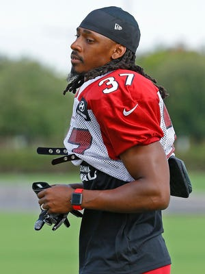 """Tramon Williams, pictured here from a practice in early August, said he's less concerned about a Trump rally and more concerned with dialogue. """"The only way they can be worked out is if they are talked about and they're brought up."""""""