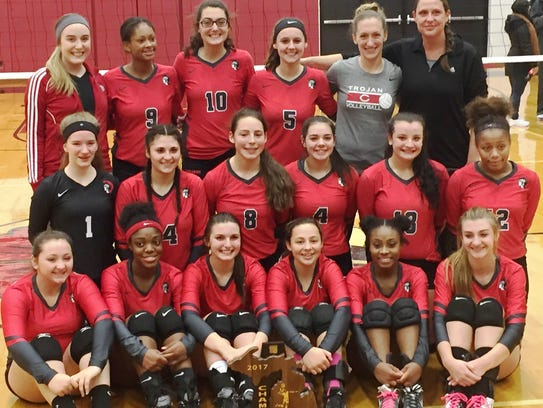 The Livonia Clarenceville girls volleyball team captured
