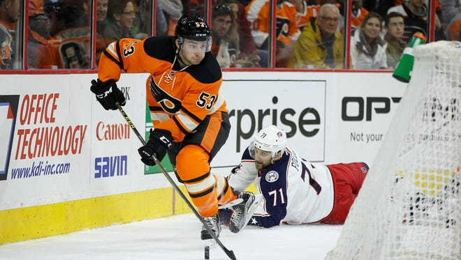 Shayne Gostisbehere and the Flyers are hoping to rebound against the Columbus Blue Jackets after a disappointing loss Thursday to Edmonton.