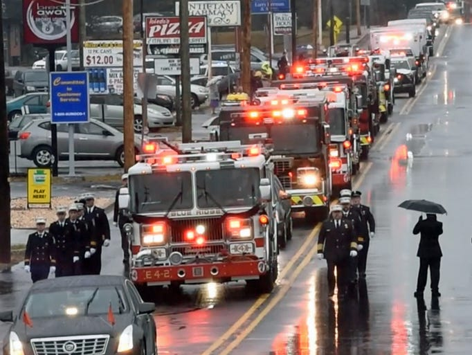 The funeral for Waynesboro and Blue Ridge Summit firefighter