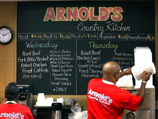 Arnold's Country Kitchen closed its Green Hills location after a year and a half. The iconic 8th Avenue restaurant is still in business.
