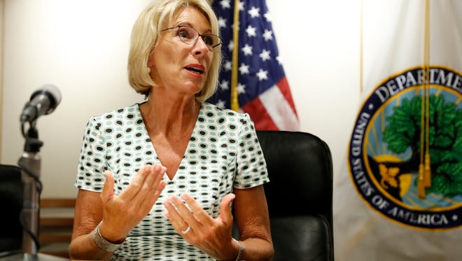 Education Secretary Betsy DeVos on July 13, 2017.