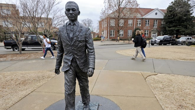 A former Ole Miss student will plead guilty to a charge of using a threat of force to intimidate African-Americans by placing a noose on the campus statue of James Meredith.