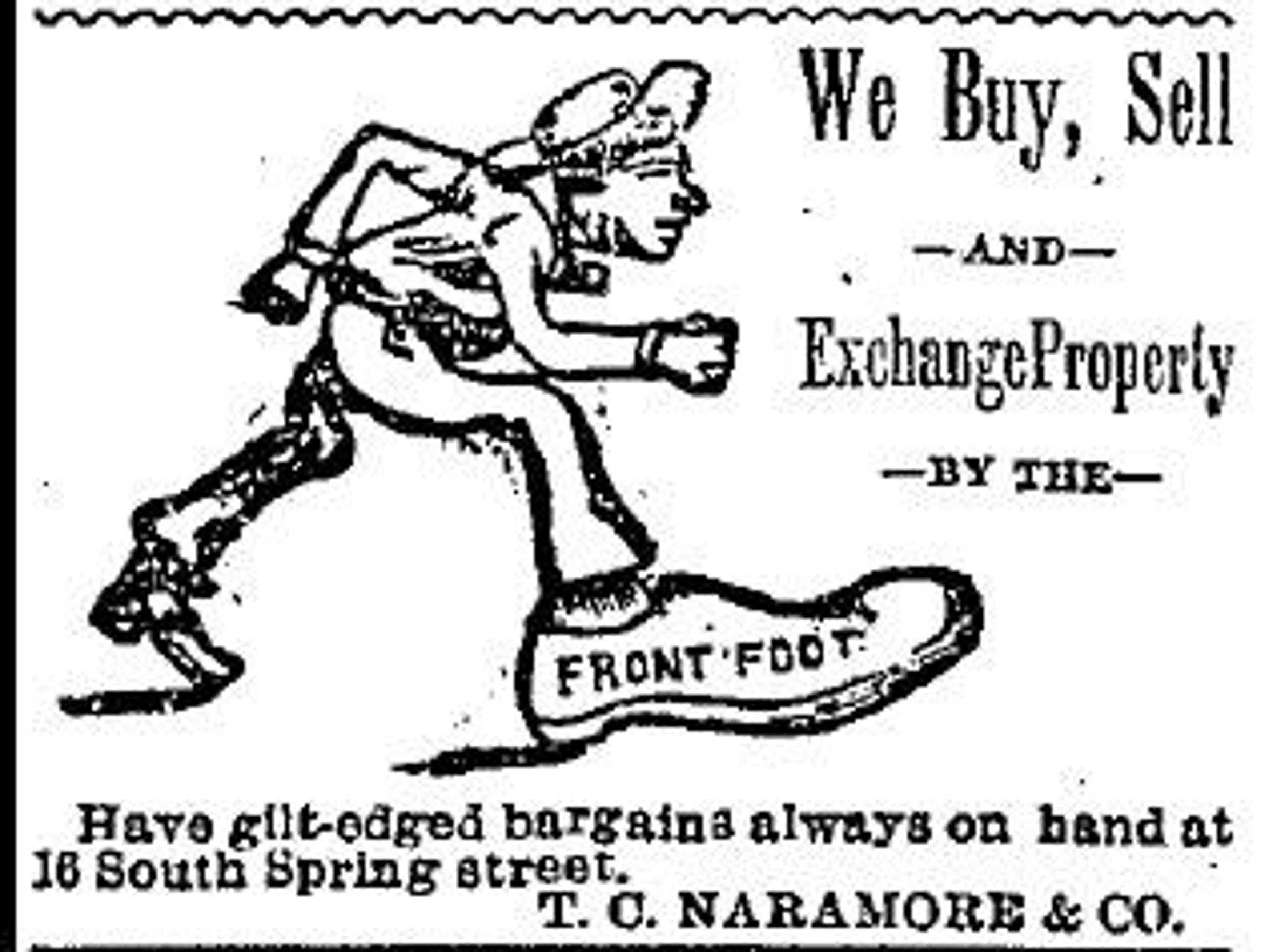 Newspaper ad for TC Naramore & Co