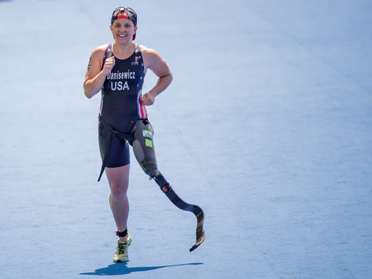 Hailey Danz will be competing in the Paratriathlon