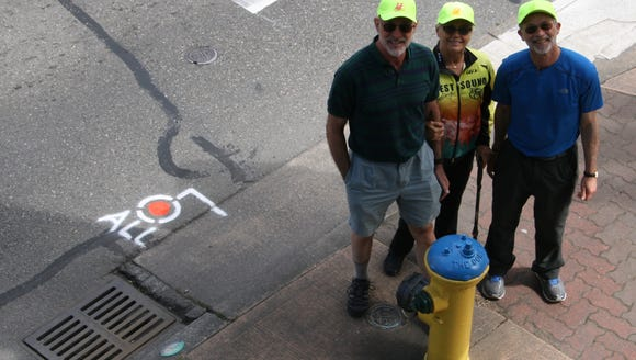From left to right: West Sound Cycling Club members