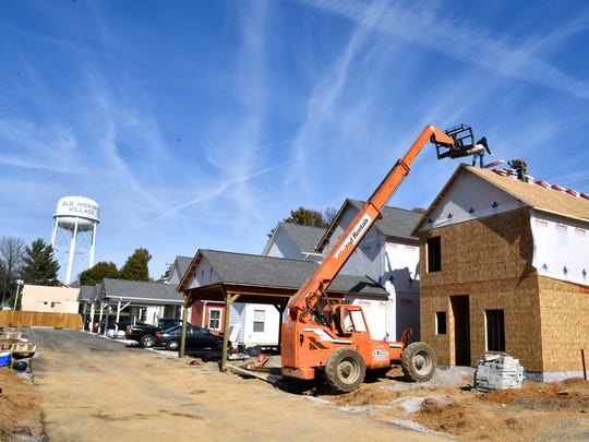 Construction continues on new homes at Village Green