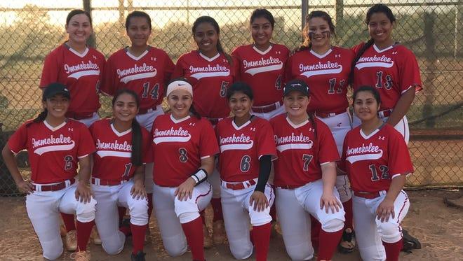 The Immokalee High School 2018 softball team