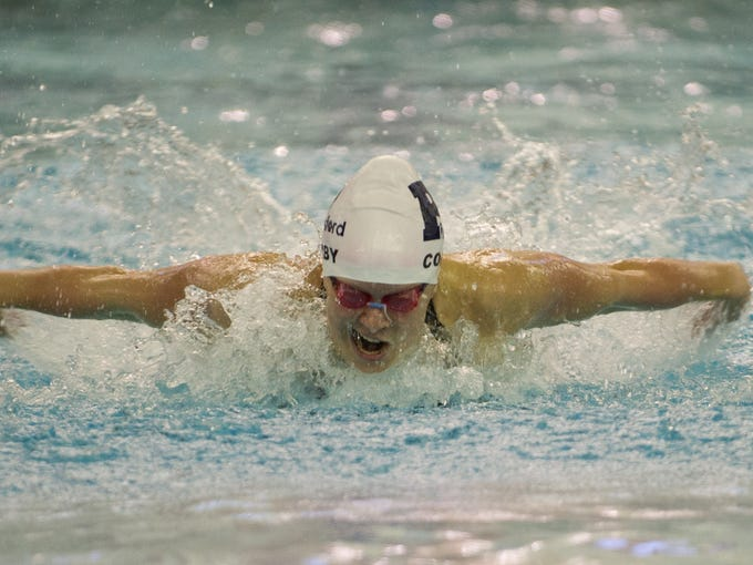 Pittsford's Emma Corby powers through the 100-yard