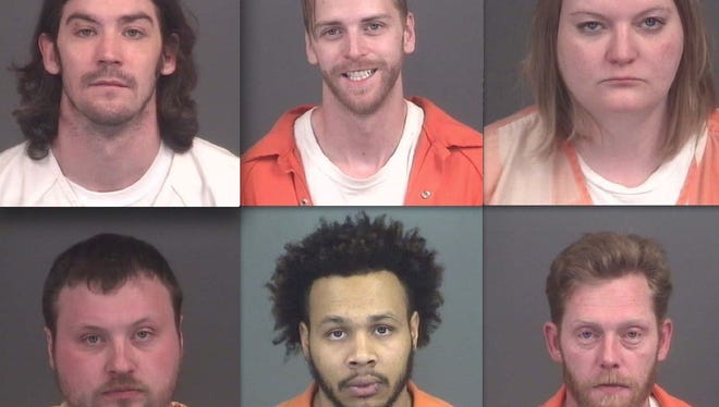 Top row, from left: Michael Althoff, Aaron Wilson and Koleen Laparry. Bottom row: Terence Sink, Corey Lucas and William Polsgrove.