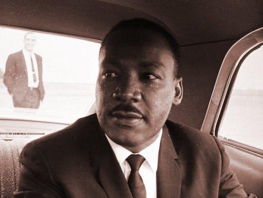 Martin Luther King Jr. spoke May 12, 1967, at the Marathon