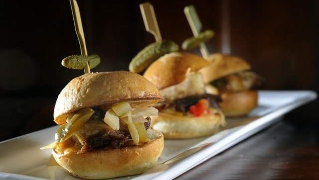 Sliders from Gray's on Main. Franklin was named as one of the best cities to start a restaurant by NerdWallet.