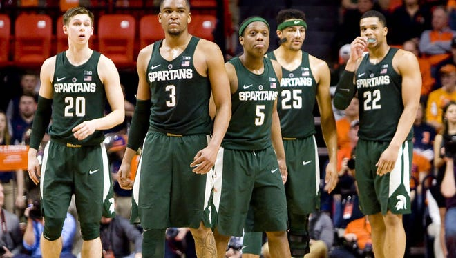 Alvin Ellis (3) is MSU's lone senior in the playing rotation as the Spartans head into postseason play.