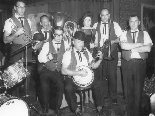 Original members of the Ribticklers, left to right: