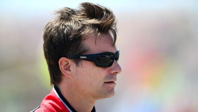 NASCAR Sprint Cup Series driver Jeff Gordon prior to the Quicken Loans 400 at Michigan International Speedway, June 15, 2014.