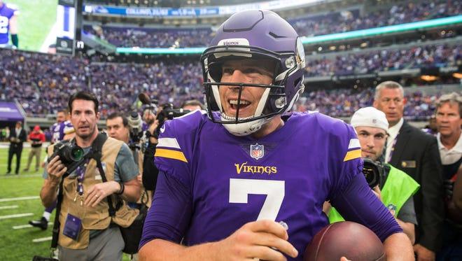 Vikings QB Case Keenum will make his first playoff start Saturday.