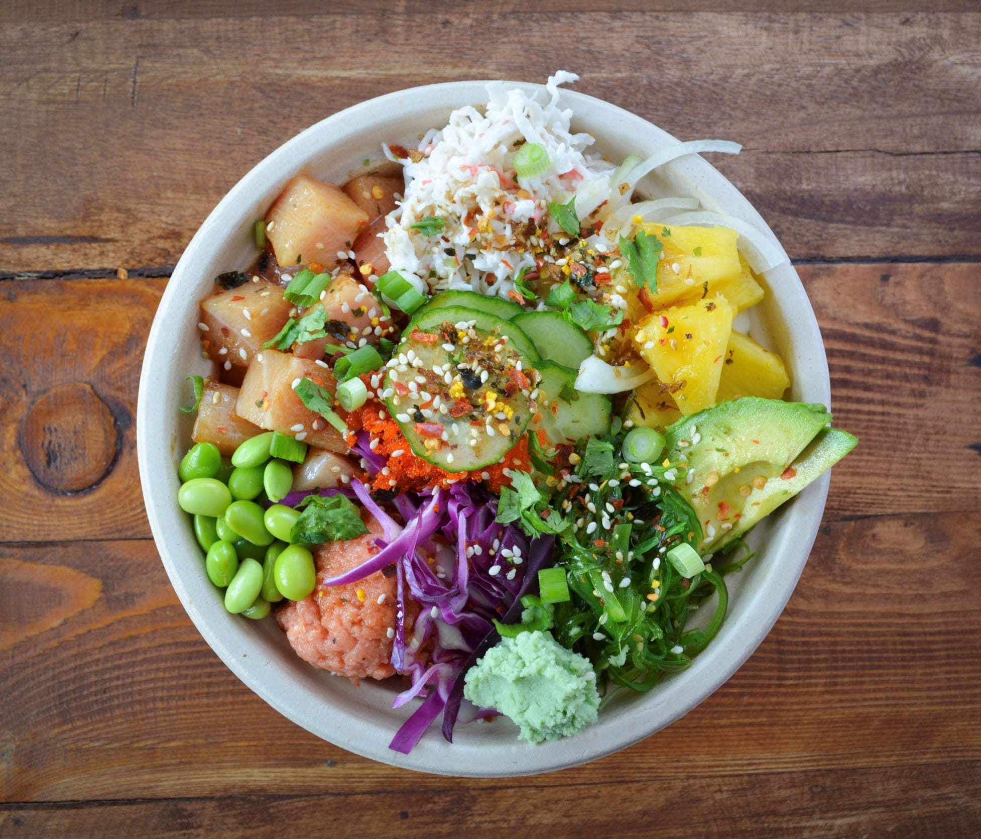 A build-your-own bowl shop in Austin, Texas, Poke House uses fresh sustainably sourced fish.