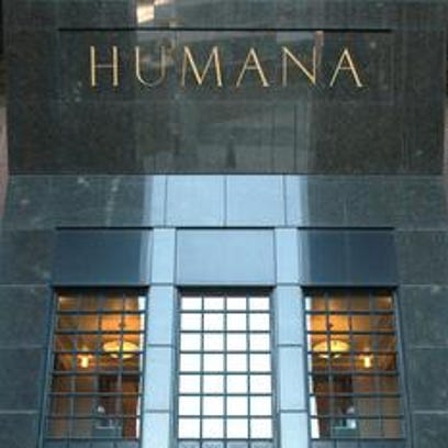 Humana tower's entrance on Main Street in Louisville.
