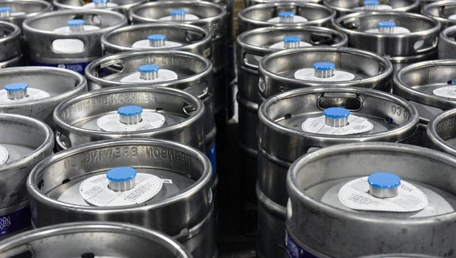 Kegs wait to be shipped at Fernson Brewing Company. In his State of the State address earlier this week Gov. Dennis Daugaard proposed raising a barrel limit for craft brewers from 5,000 to 30,000.