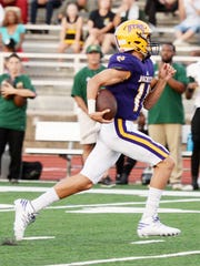 Byrd's Cameron Felt during their Thursday evening game