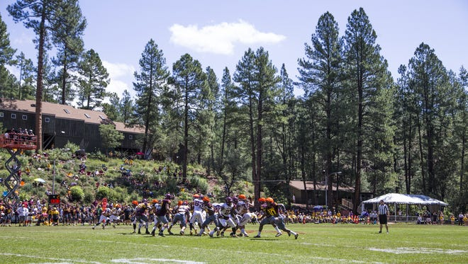 Arizona State scrimmages at Camp Tontozona, Saturday, August 5, 2017.