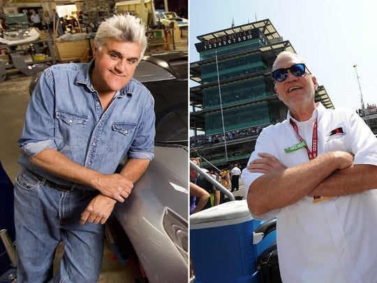 Jay Leno, left, Jay Leno worked in nightclubs while attending Emerson College. David Letterman graduated from Broad Ripple High School and Ball State University.